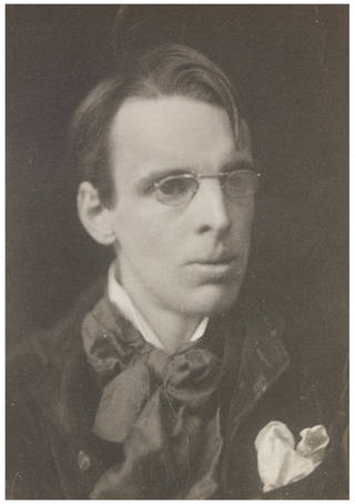 William Butler Yeats, photograph by Frederick Hollyer, about 1890, England. Museum no. 7637-1938. © Victoria and Albert Museum, London