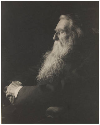 John Ruskin, photograph by Frederick Hollyer, 1894, England. Museum no. 7603-1938. © Victoria and Albert Museum, London