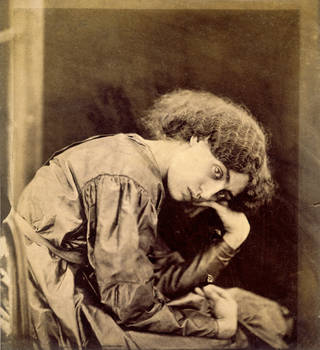 Jane Morris, posed by Rossetti, photograph by John R. Parsons, 1865, England. Museum no. 1748-1939. © Victoria and Albert Museum, London