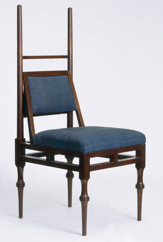 Chair, Edward William Godwin, about 1885, England. Museum no. CIRC.258:1, 2-1958. © Victoria and Albert Museum, London