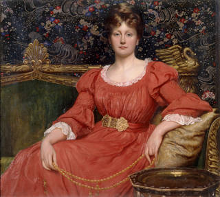 Photo of Mrs Luke Ionides (1848 – 1929), painting, by William Blake Richmond, 1882, England. Museum no. E.1062:1, 2-2003. © Victoria and Albert Museum, London