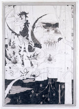 Photo of Siegfried, Act II, drawing, by Aubrey Vincent Beardsley, about 1892 – 93, England. Museum no. E.578-1932. © Victoria and Albert Museum, London