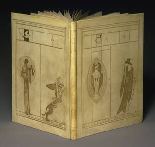 Photo of Design for a book cover for Oscar Wilde's The Sphinx, by Charles Ricketts, 1884, England. Museum no. E.1025-1933. © Victoria and Albert Museum, London