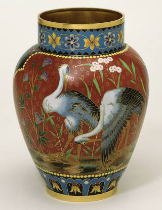 Photo of Vase, Elkington & Co., 1876, Birmingham, England. Museum no. 62-1877. © Victoria and Albert Museum, London
