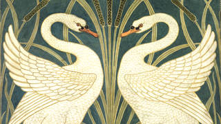 Swan, Rush and Iris, design for wallpaper, Walter Crane, 1875, England. Museum no. E.17-1945. © Victoria and Albert Museum, London