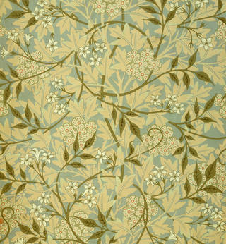 Specimen of 'Jasmine' wallpaper, designed by William Morris and manufactured by Jeffrey & Co., 1872, England. Museum no. E.475-1919. © Victoria and Albert Museum, London