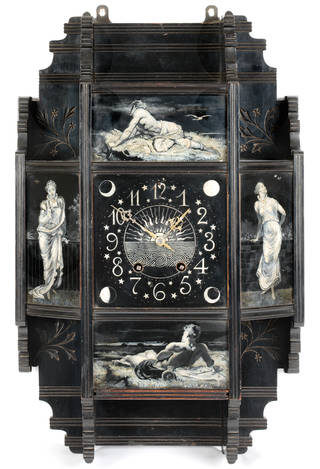 Wall clock, Lewis Foreman Day, 1879, England. Museum no. W.27-2008. © Victoria and Albert Museum, London