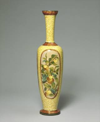Vase, made by Doulton Ceramic Factory, decorated by Mary Capes, 1879, England. Museum no. 3805-1901. © Victoria and Albert Museum, London