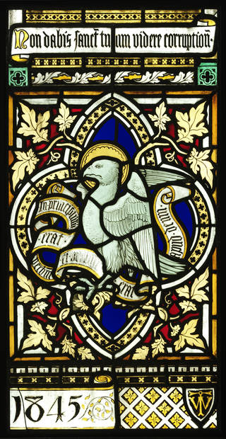 Panel, stained and painted glass, Thomas Willement, 1845, England. Museum no. C.151-1980. Given by Holy Trinity Church, Carlisle. © Victoria and Albert Museum, London