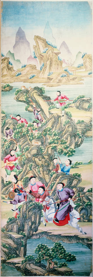 Panel of painted wallpaper, unknown maker, about 1790 – 1800, Guangzhou, China. Museum no. E.1181-1921. © Victoria and Albert Museum, London