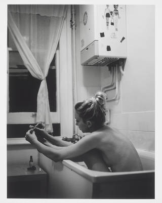 Bath One, bromide print, photograph by Mary McCartney, from the series Off Pointe - A Photographic Study of the Royal Ballet After Hours, 2004. Museum no. E.302-2018. @ Victoria and Albert Museum, London