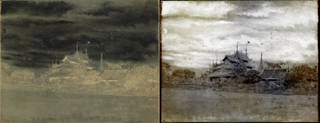 Left: Waxed paper negative by Captain Linnaeus Tripe, 1850s. Museum no. RPS.2721-2017. © Victoria and Albert Museum, London. Right: Tripe_01 (Amerapoora. Mohdee Kyoung), by Thomas Ruff (b. 1958), C-type print, 2018. Museum no. E.830-2018. © Victoria and Albert Museum, London / Courtesy of Thomas Ruff and David Zwirner Gallery