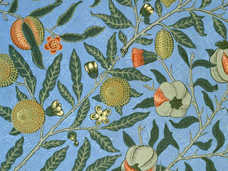 'Fruit' (or 'Pomegranate') wallpaper pattern, designed by William Morris, manufactured by Jeffrey & Co., 1866, England. Museum no. E.447-1919. © Victoria and Albert Museum, London
