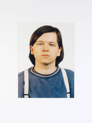 Photo of Blue Eyes C.F./B.E., Thomas Ruff (b. 1958). C-type print, 1991. Museum no. E.99-2009. © Victoria and Albert Museum, London / Courtesy of Thomas Ruff and David Zwirner Gallery