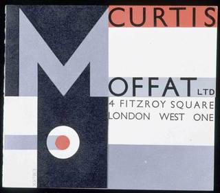 Invitation card, Edward McKnight Kauffer, 1929. Museum no. E.500-1980. © Victoria and Albert Museum, London