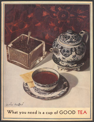 What You Need is a Cup of Good Tea, Curtis Moffat, about 1930. Museum no. E. 3632-2007 © Victoria and Albert Museum, London/Estate of Curtis Moffat