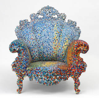 Photo of Poltrona di Proust, armchair, Alessandro Mendini, 1978, Italy. Museum no. W.9-2012. © Victoria and Albert Museum, London