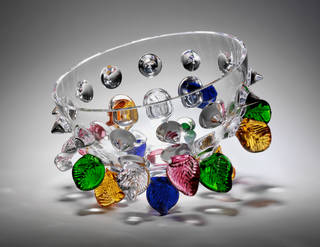 Photo of Isotta, glass bowl, Bořek Šípek, about 1987, Czech Republic. Museum no. C.52-2011. Purchase funded by the Friends of the V&A. © Victoria and Albert Museum, London