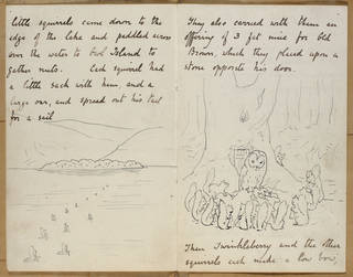 Illustrated letter to Norah Moore, 25 September 1901, by Beatrix Potter, Linder Bequest catalogue no. LB 1468. Museum no. BP.880. © Victoria and Albert Museum, London, courtesy Frederick Warne & Co Ltd.