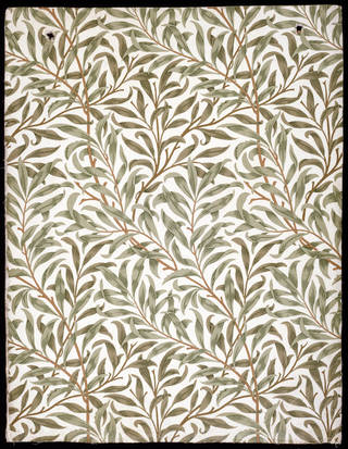 'Willow Bough' wallpaper, William Morris, 1887, England. Museum no. E.557-1919. © Victoria and Albert Museum, London