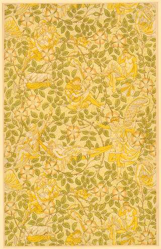 Portion of 'Sleeping Beauty' nursery wallpaper, designed by Walter Crane, manufactured by Jeffrey & Co., 1879, England. Museum no. E.4036-1915. © Victoria and Albert Museum, London
