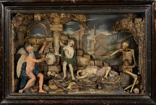 Time and Death, Caterina de Julianis, before 1727, Italy.  Museum no. A.3-1966. © Victoria and Albert Museum, London