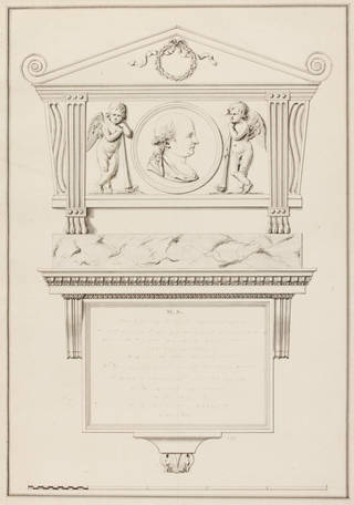 Design for a monument, James 'Athenian' Stuart, 18th century, England. Museum no. 8408:9. © Victoria and Albert Museum, London