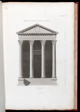 Plate IV – Portico Front Elevation, from Antiquities of Athens, Chapter II, Vol. IV by James 'Athenian' Stuart, 1762 – 88. Museum no. 459108. © Victoria and Albert Museum, London