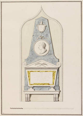 Design for a monument, James 'Athenian' Stuart, 18th century, England. Museum no. 8408:14. © Victoria and Albert Museum, London