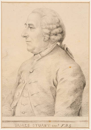 Drawing, portrait of James 'Athenian' Stuart, by George Dance, 1762, England. Museum no. E.581-1929. © Victoria and Albert Museum, London