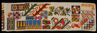 Sampler, Sarah Bland, mid-19th century, England. Museum no. T.240-1967. © Victoria and Albert Museum, London. Given by Mrs D. McGregor