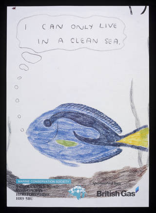 I Can Only Live in a Clean Ocean, poster, 1990. Museum no. E.3062-1991. © Victoria and Albert Museum, London