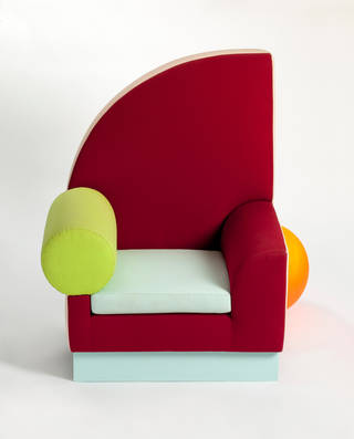 Photo of Bel Air, chair, Peter Shire, 1982, US. Museum no. W.19-2010. © Victoria and Albert Museum, London