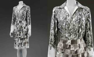 Skirt and shirt made from Orange Fiber, Salvatore Ferragamo, 2017, Italy. T.1710 1&2-2018. © Victoria and Albert Museum, London