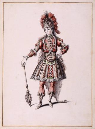 Costume design for Hercules in Atys, Jean-Louis Berain, 1676, Paris. Museum no.  S.1108-1982. © Victoria and Albert Museum, London