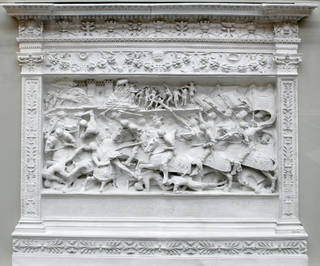 Photo of Battle scene, plaster cast, sculpted by Gian Cristoforo Romano, made by Edoardo Pierotti, 1491 – 1497 (sculpted), about 1884 (cast), Italy. Museum no. REPRO.1884-669. © Victoria and Albert Museum, London