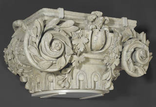 Photo of Plaster cast of a capital, Philibert  De L'Orme, Musee des Arts Decoratifs, 1884, France. Museum no. REPRO.1884-718. © Victoria and Albert Museum, London