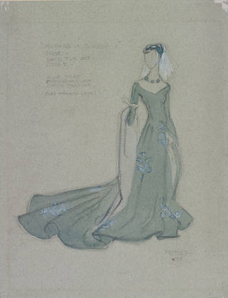 Costume design by Motley for Anne in Richard of Bordeaux, New Theatre, 1933, England. Museum no. s.1168-2010. © Victoria and Albert Museum