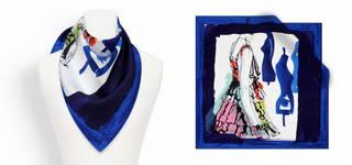 Luxury Silk Print Scarves  photo