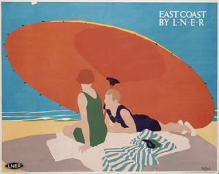Photo of East Coast Resorts by L.N.E.R., lithograph poster, Tom Purvis, about 1925, UK. Museum no. E.744-1925. © Victoria and Albert Museum, London