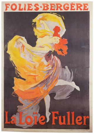 Photo of Lithograph poster advertising La Loïe Fuller at the Folies-Bergère, Jules Chéret, 1893, France. Museum no. E.112-1921. © Victoria and Albert Museum, London