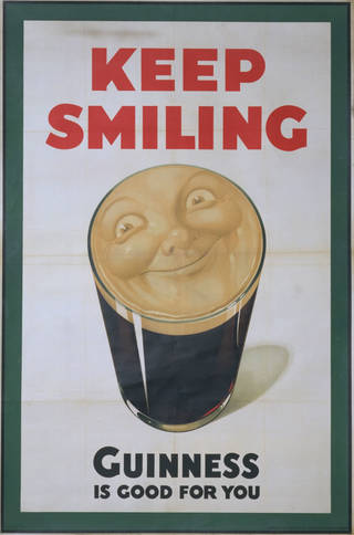 Photo of Keep Smiling. Guinness Is Good For You, lithograph poster, John Gilroy, 1936, UK. Museum no. E.131-1973. © Victoria and Albert Museum, London