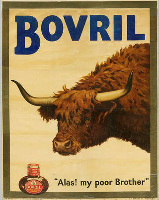 Alas! My poor Brother, poster advertising Bovril, designed by W.H. Caffyn, 1905, UK. © Henry Caffyn/Image courtesy of the Victoria and Albert Museum, London
