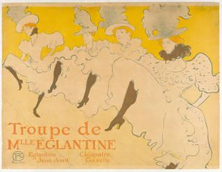 Troupe de Mlle Églantine, colour lithograph poster, Henri de Toulouse-Lautrec, 1896, France. Museum no. E.1374-1931. © Victoria and Albert Museum, London