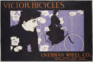 Victor Bicycles, colour lithograph poster, William H. Bradley, 1896, US. Museum no. E.414-1921. © Victoria and Albert Museum, London