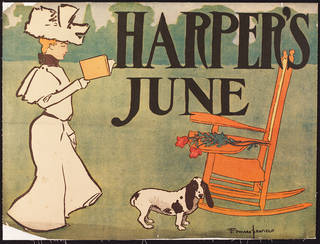 Harper's June, chromo lithograph poster, Edward Penfield, 1887, US. Museum no. E.1386-2004. © Victoria and Albert Museum, London