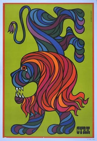 Cyrk, colour lithograph poster, Hubert Hilscher, 1970, Poland. Museum no. E.1084-1976. © Victoria and Albert Museum, London