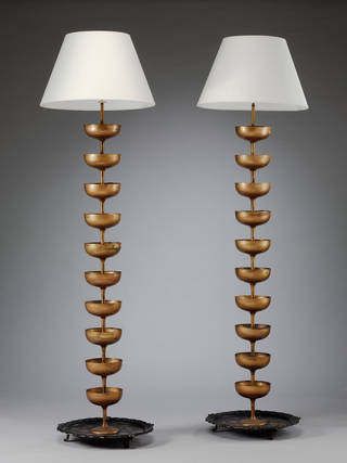 champagne standard lamp