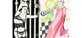 iPad Fashion Illustration inspired by Mary Quant photo