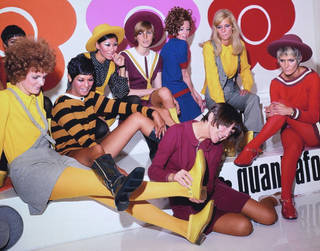 Mary Quant and models at the launch of the quantafoot collection, 1967. © PA Prints 2008